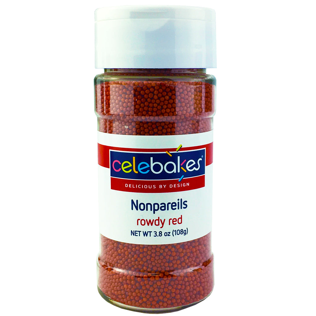 Celebakes Red Nonpareils, 3.8 oz