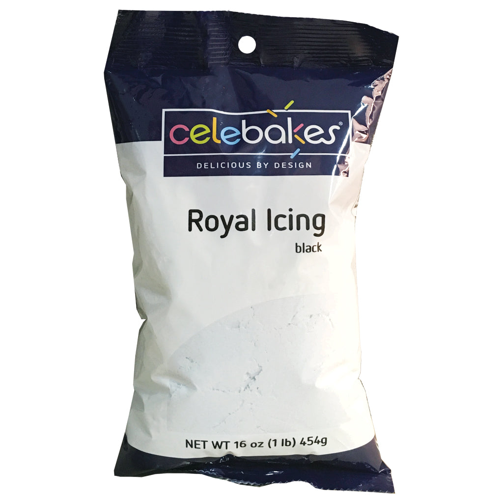 Celebakes Black Royal Icing, 16 oz