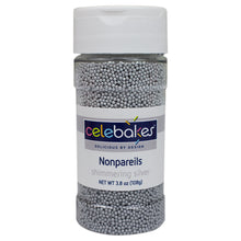 Load image into Gallery viewer, Celebakes Shimmering Silver Nonpareils, 3.8 oz