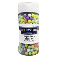 Load image into Gallery viewer, Celebakes Pastel Mix Sugar Pearls, 3.5 oz