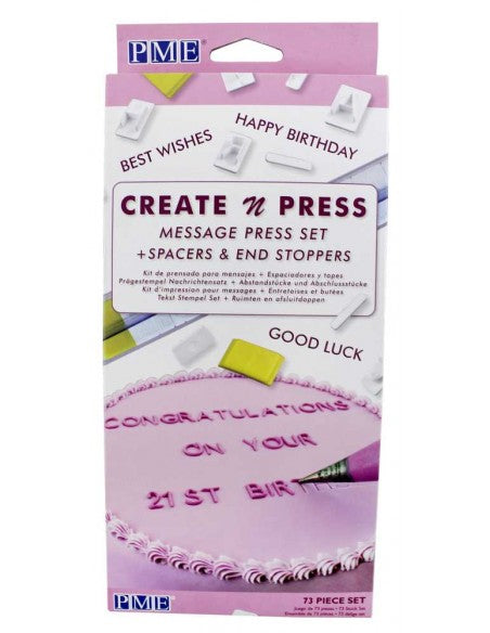 CREATE N PRESS MESSAGE SET