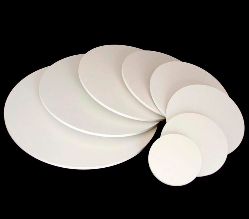 White MDF Round Cake Boards 15.7