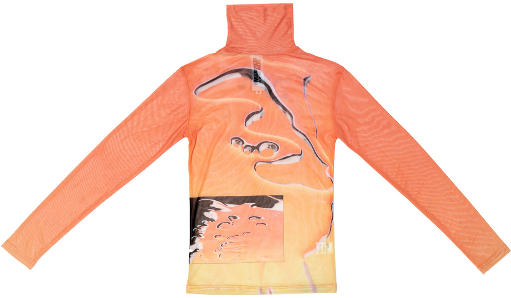 Liquid Orange Turtleneck