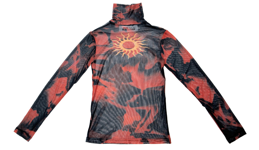 Red Black Sun Turtleneck