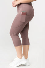 Load image into Gallery viewer, 5 pocket high waist cropped  yoga  pants -  Smoky Mauve - SportyLeggings.com