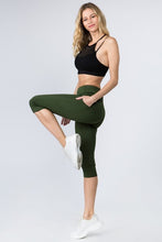 Load image into Gallery viewer, 5 pocket high waist cropped  yoga  pants - Green - SportyLeggings.com