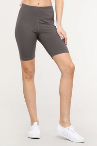 High Rise Matte Bike Shorts - SportyLeggings.com