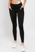Load image into Gallery viewer, Jersey Mesh Striped 3-Pocket Leggings - SportyLeggings.com