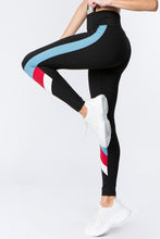 Load image into Gallery viewer, Triple Color Block Workout Leggings - SportyLeggings.com