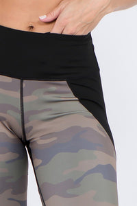 Color Block Camouflage Leggings - SportyLeggings.com