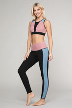 Load image into Gallery viewer, Color Block Detail Workout Legging - SportyLeggings.com