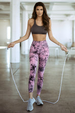 Load image into Gallery viewer, Tie Dye Workout Leggings - Pink - SportyLeggings.com