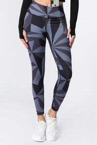 High Rise Geo Print Workout Legging - SportyLeggings.com