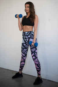 Bold Lines High Rise Workout Leggings - SportyLeggings.com