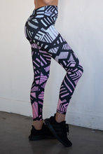 Load image into Gallery viewer, Bold Lines High Rise Workout Leggings - SportyLeggings.com