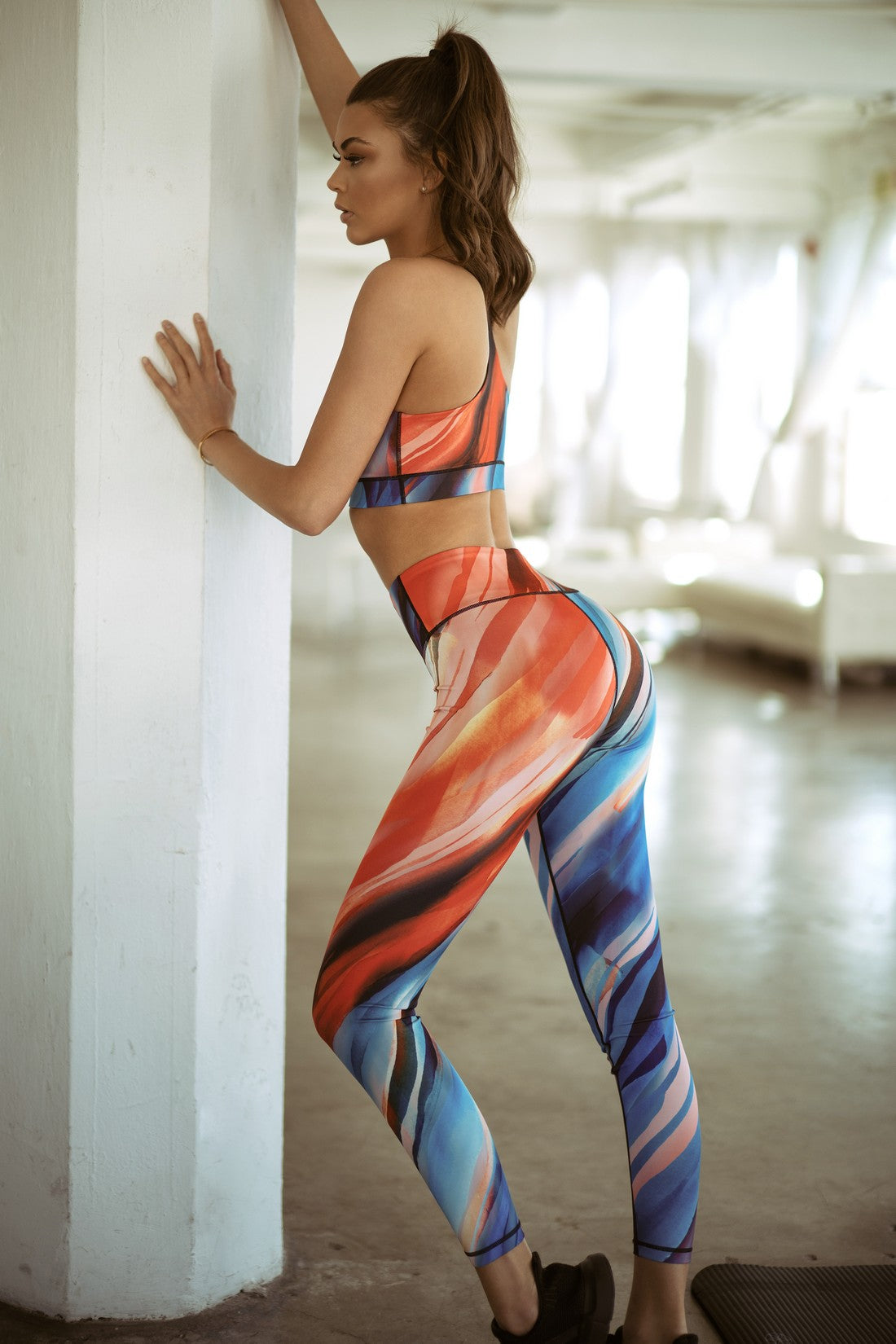 High Rise Watercolor Leggings - SportyLeggings.com