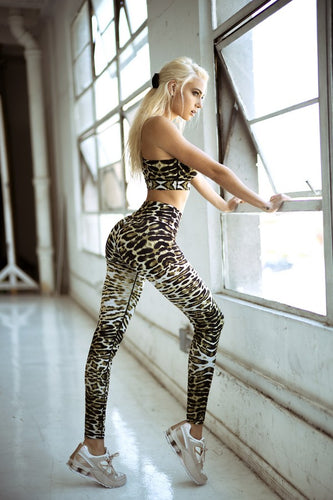 Feline Leopard Workout Leggings - SportyLeggings.com