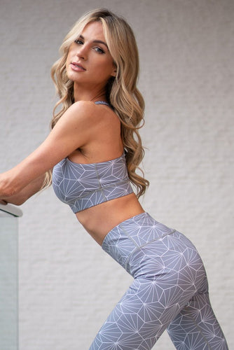 Geometric Print Sports Bra - SportyLeggings.com