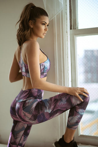Feather Print Sports Bra - SportyLeggings.com