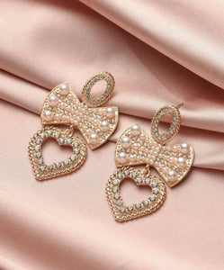 GLAM - Bows and Pearls Earrings