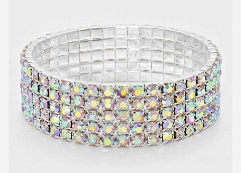GLAM - Row of Bling Bracelet