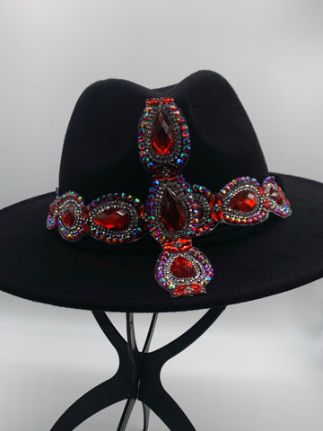 GLAM - Royally Red Cross Fedora