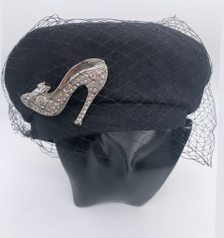 GLAM - STEPPING HIGH HAT (Black Denim)