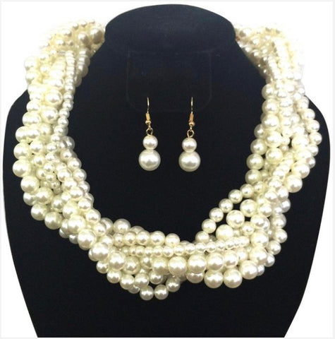 GLAM - Wrapped in Pearl Necklace