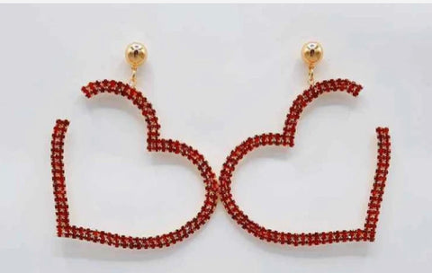 GLAM - I HEART YOU Earrings Red