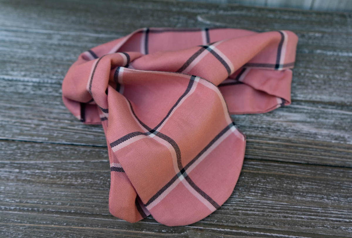 Neutrally Pink Tie-On Scarf