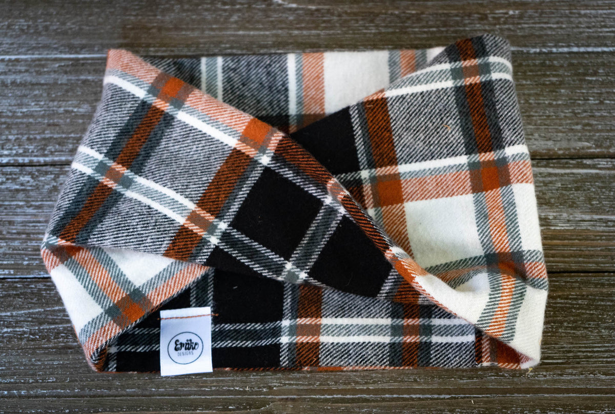 Autumn Plaid Infinity Scarf