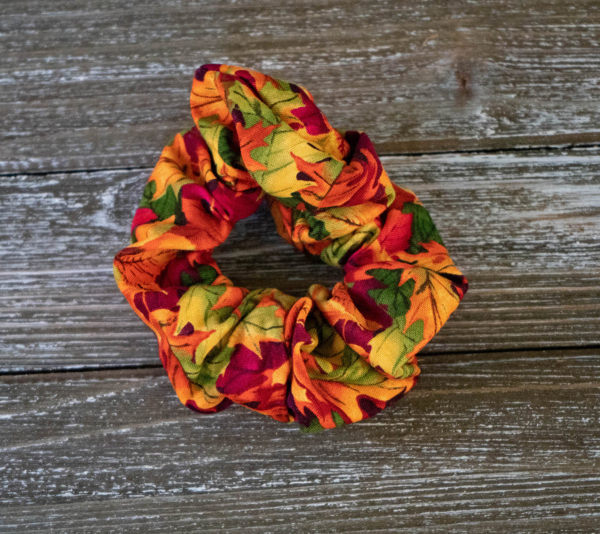 ColorFall Leaves Scrunchie
