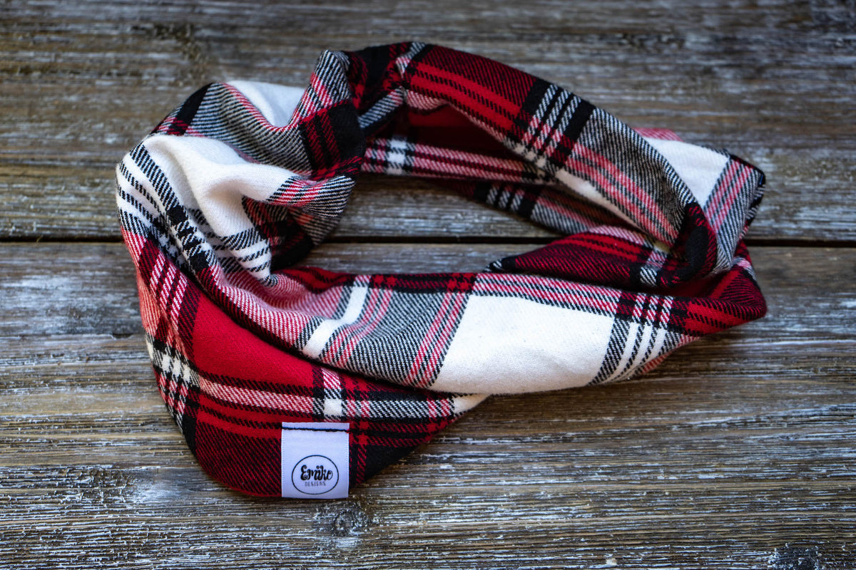 Merry and Plaid Infinity Scarf