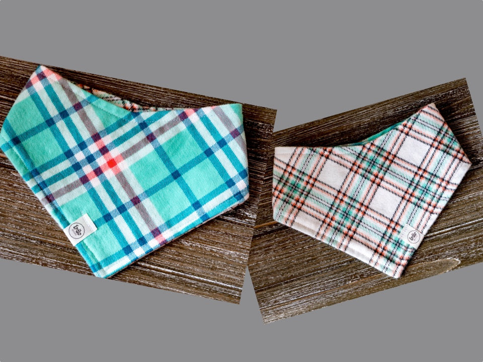 Perfectly Plaid Reversible Pet Bandana