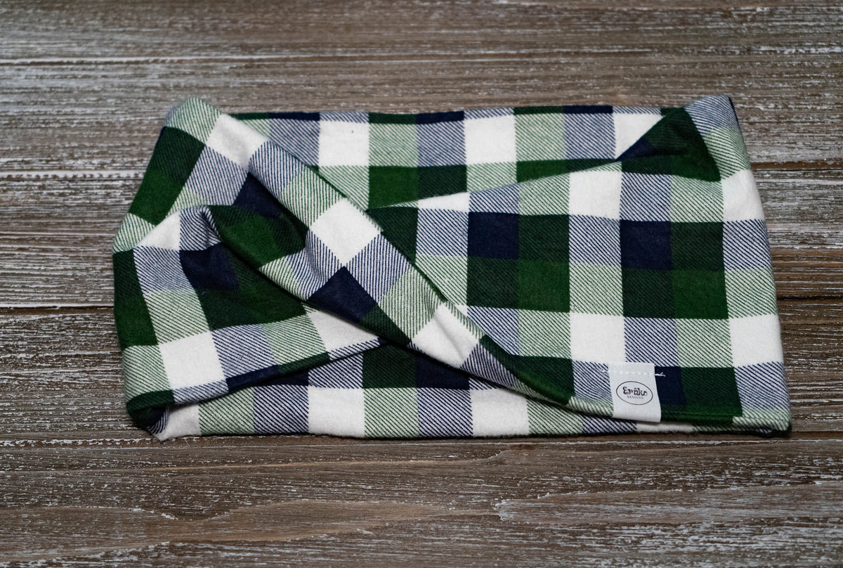 Sapphire and Emerald Plaid Pet Scarf