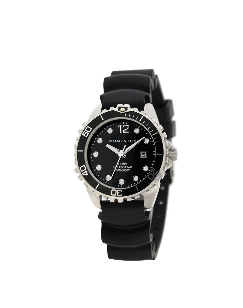 Momentum Mini Rubber in Black with Rubber Strap | Scuba Leeds UK