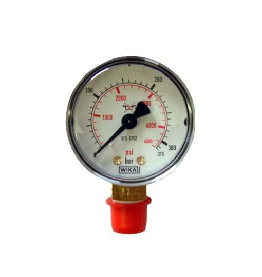 Air Gun 300 Bar Gauge - Bottom Thread | Scuba Leeds UK