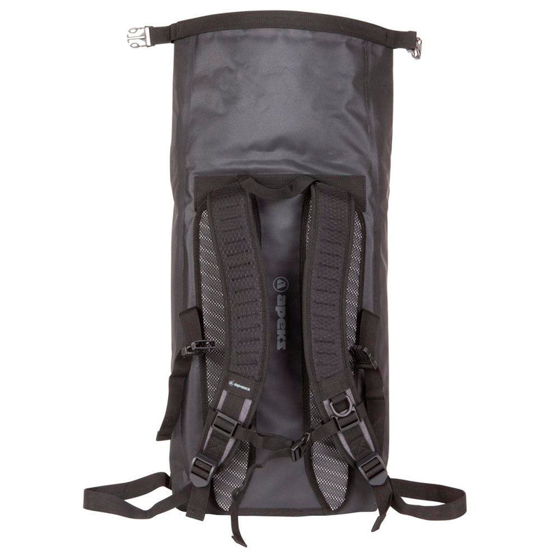 Apeks 30ltr Dry Rucksack roll top from the back | Scuba Leeds UK