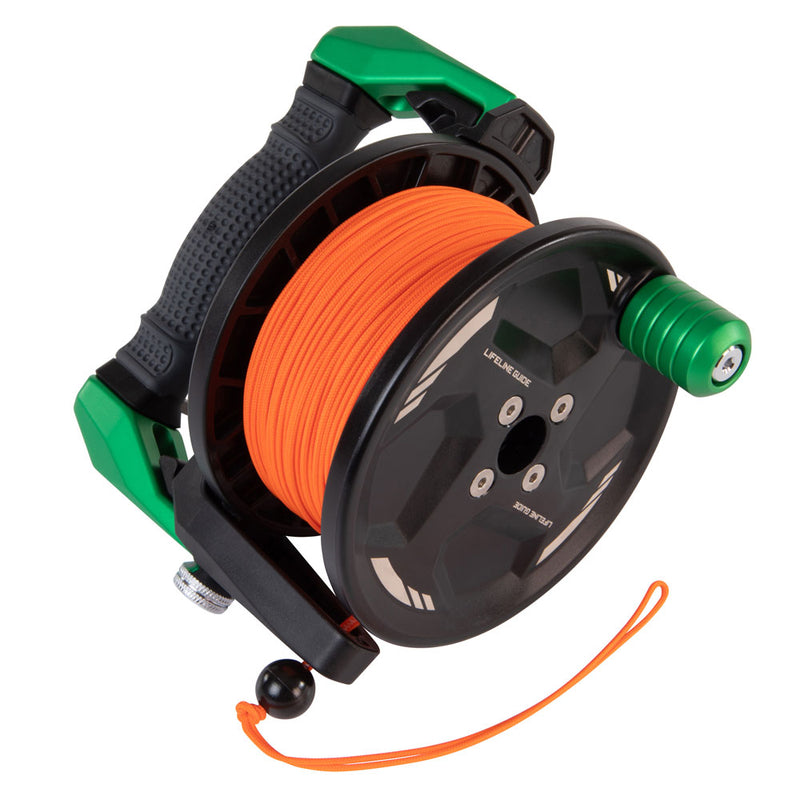 Apeks Lifeline Guide Reel in Green line side | Scuba Leeds UK