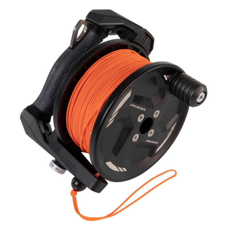 Apeks Lifeline Guide Reel in Grey line side | Scuba Leeds UK