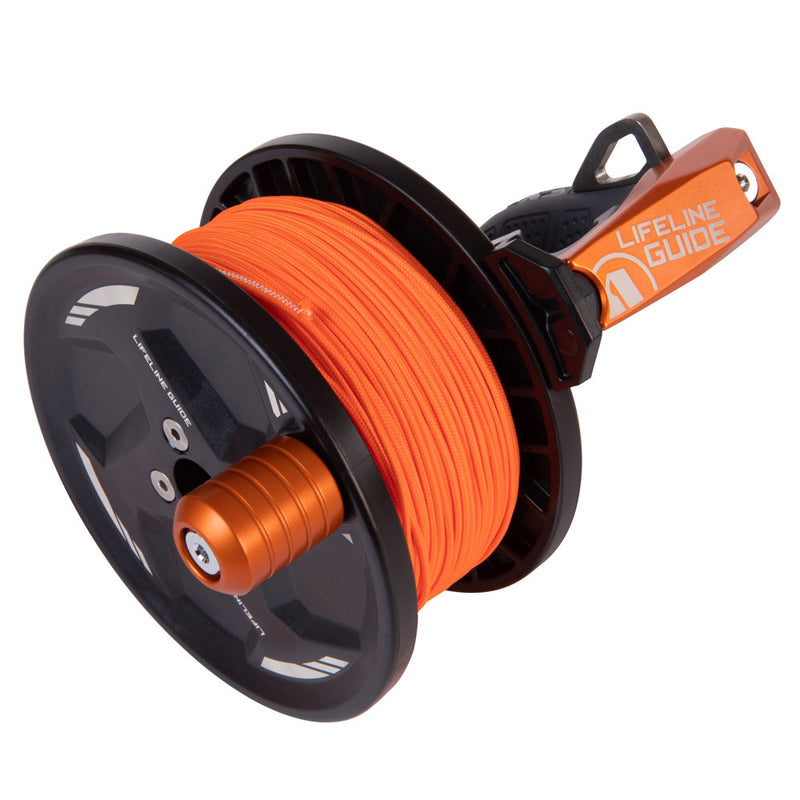 Apeks Lifeline Guide Reel in Orange top side | Scuba Leeds UK