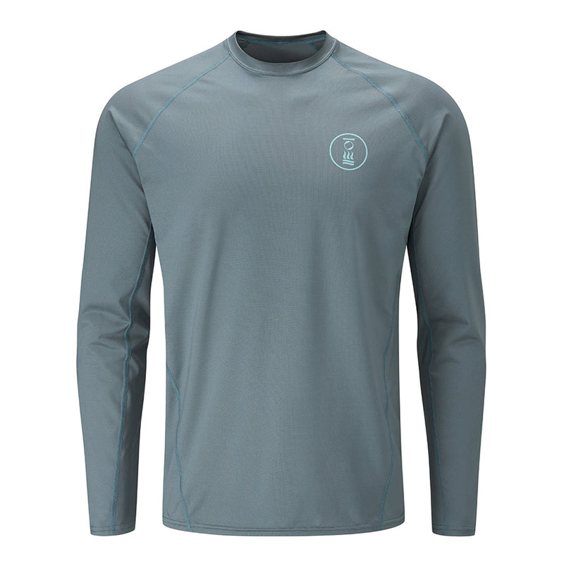 Fourth Element Hydro-T Long Sleeve Rashguard Men's in Baltic Blue (Front) | Scuba Leeds UK