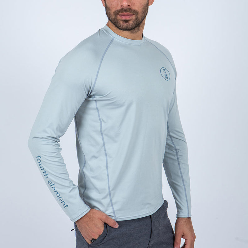 Fourth Element Hydro-T Long Sleeve Rashguard Men's in Ice Blue (Front2) | Scuba Leeds UK