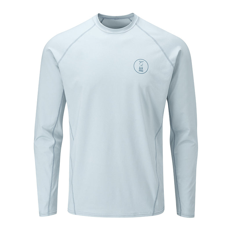 Fourth Element Hydro-T Long Sleeve Rashguard Men's in Ice Blue (Front) | Scuba Leeds UK