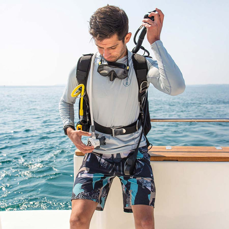 Fourth Element Hydro-T Long Sleeve Rashguard Men's in Ice Blue (Lifestyle) | Scuba Leeds UK