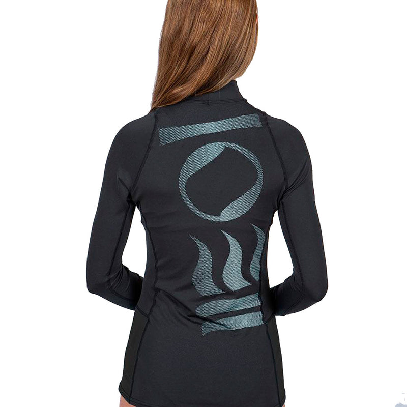 Fourth Element Hydroskin Long Sleeve Rashguard Women's in Black (Rear) | Scuba Leeds UK