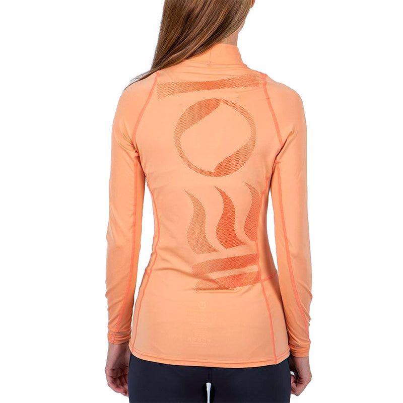 Fourth Element Hydroskin Long Sleeve Rashguard Women's in Coral (Rear) | Scuba Leeds UK