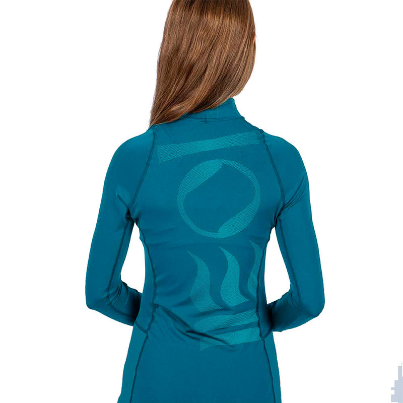 Fourth Element Hydroskin Long Sleeve Rashguard Women's in Ocean Depth (Rear) | Scuba Leeds UK