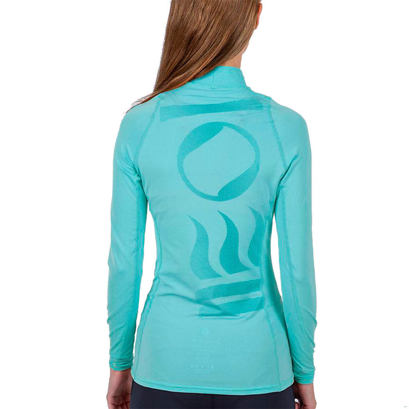 Fourth Element Hydroskin Long Sleeve Rashguard Women's in Turquoise (Rear) | Scuba Leeds UK