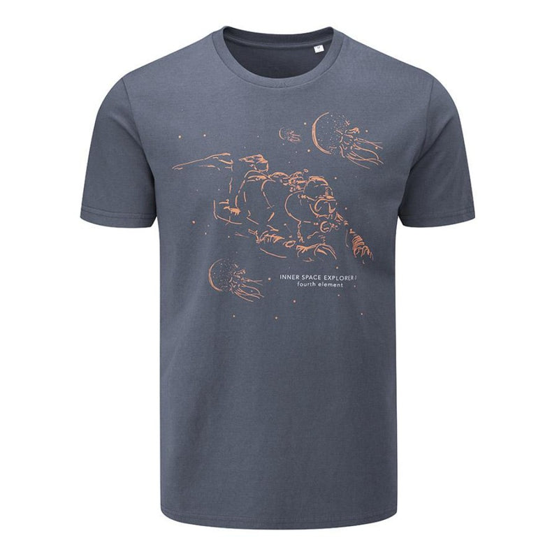 Fourth Element Inner Space T-Shirt Grey Men's (Front) | Scuba Leeds UK